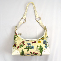 Floral Cotton Canvas & White Faux Leather THE SAK Hobo Shoulder Bag Purse S - $14.84