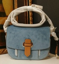 NWT MICHAEL KORS Romy Medium Crossbody Suede Leather Denim MSRP $298 - $236.55