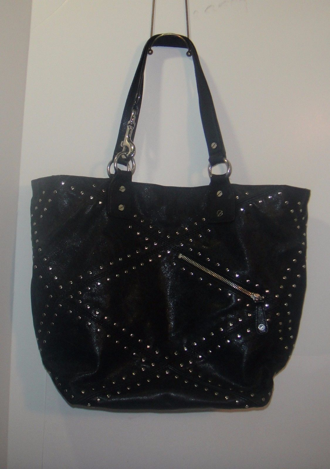 9bc249a8a32200 Michael Kors Black Purse With Silver Studs   Stanford Center for ...
