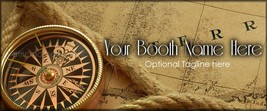 Bonanza Booth Banner  Vintage Map   Personalize... - $4.99