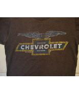 Chevy Chevrolet GM Car Brand Distressed Logo Soft Dark Gray T Shirt M - $17.17