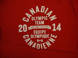 Canadian Canada Olympic Team 2014 Winter Games Red T Shirt M - $24.60