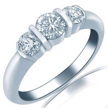 Vintage Diamond 0.81 Carat Wedding Band Ring Channel Set 18k White Gold ... - £841.79 GBP