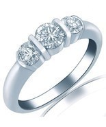 Vintage Diamond 0.81 Carat Wedding Band Ring Channel Set 18k White Gold ... - $1,048.41
