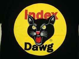 Index Dawg Fireworks Pyrotechnic Front Pocket Black T Shirt S - $19.64