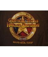 Harley-Davidson Motorcycles Round Rock Texas Brown Front Pocket T Shirt L - $24.60