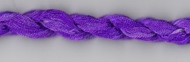 Purple Pansy 255 Silk Floss Dinky Dyes 8m (8.7yds) cross stitch embroidery - $4.05