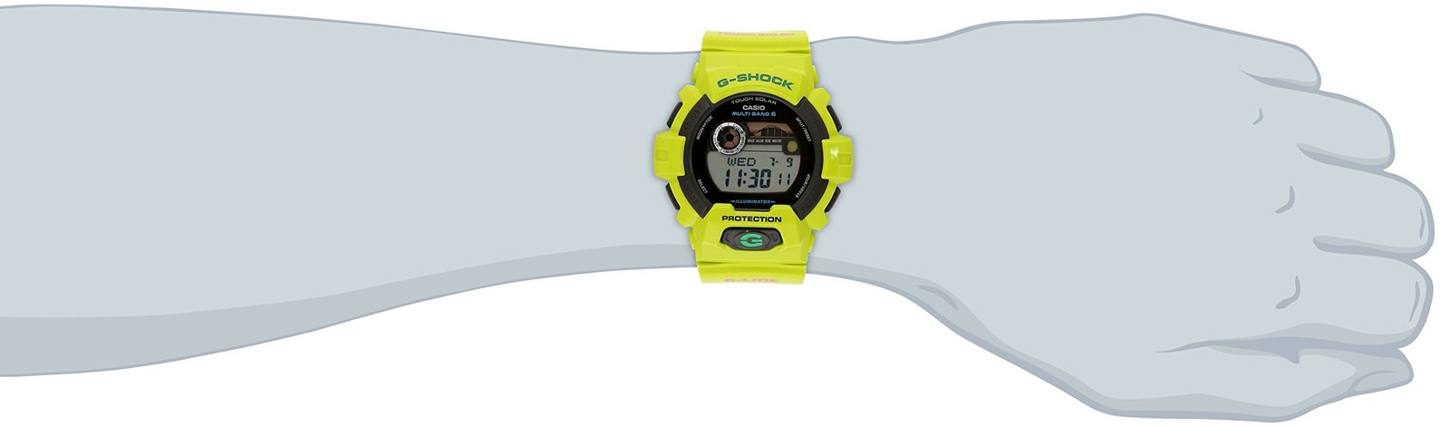 G-Shock GWX8900 Glide with Tide Graph Classic Series Watch - Neon Green/Black...