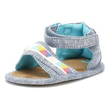 TOMS Kids Baby Girl's Shiloh Infant/Toddler Blue Slub Chambray/Tribal 2 ... - $33.64