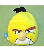 "15"" Angry Birds YELLOW BIRD Plush Rovio Stuffed Animal Black White Game ... - $16.83"