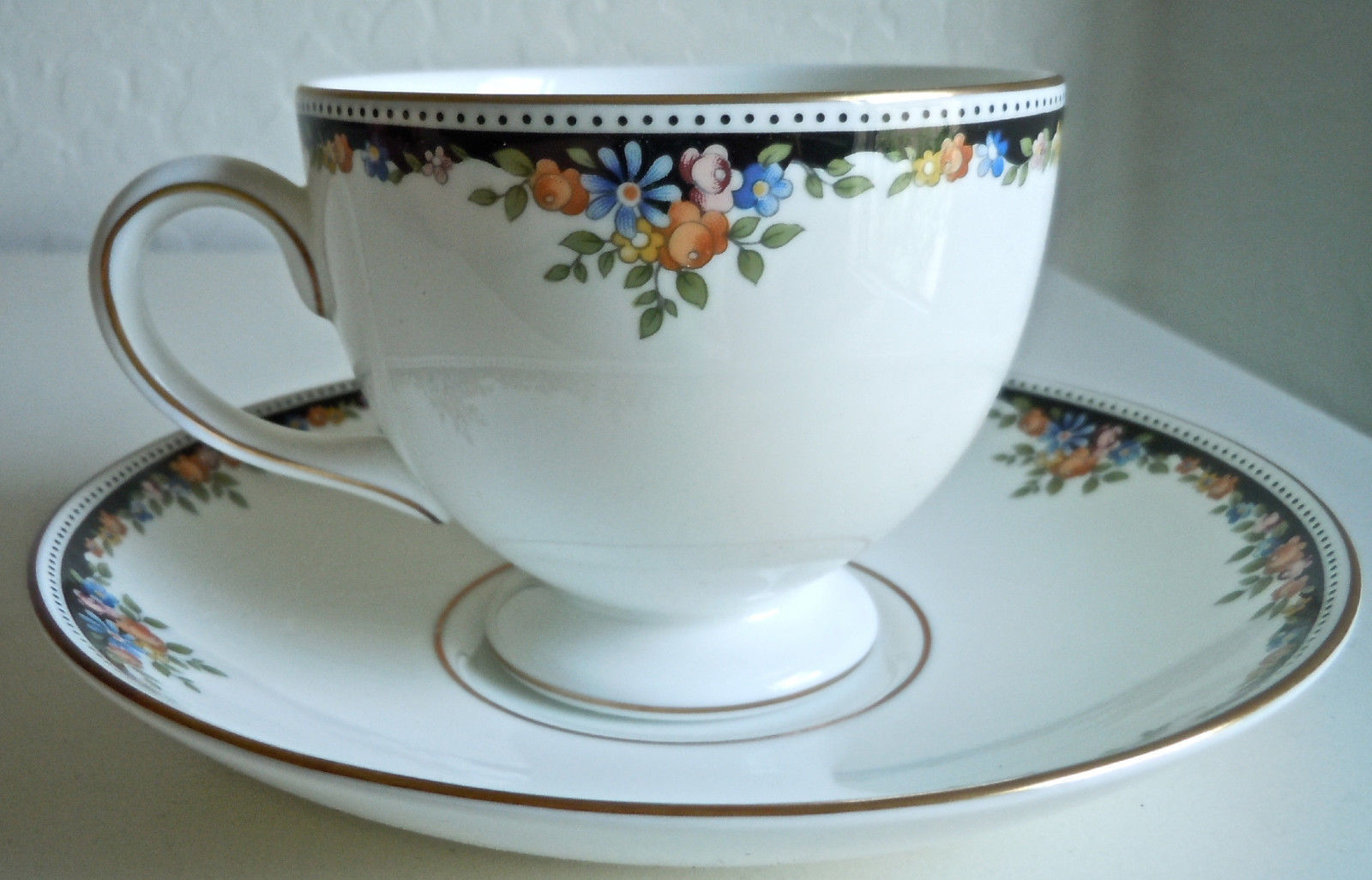 Wedgwood Osborne Cup and Saucer Set Footed