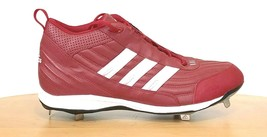 Adidas Red Spinner IV 3/4 Steel Baseball Softball Cleats Mens Size 15  - $29.95