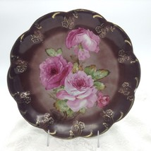 CT Germany Roses Gold Trim Wall Display Cabinet Plate Charger - $42.68