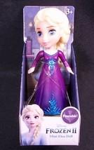"Disney Frozen II Mini ELSA purple blue sparkle dress 3"" poseable figure NEW - $9.85"