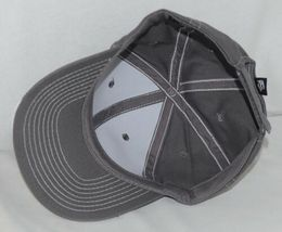 OC Sports BTP 100 Twill Cotton Cap Grey Visor Piping Accent White Adult image 6