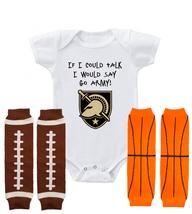 Army Black Knights Shower Gift Onesie Shirt Bodysuit Set If I Could Talk - $15.00+