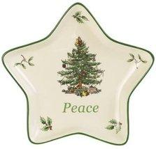 Spode Christmas Tree Charming Sentiment Tray, Peace Star - $20.00