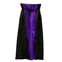 Black & Purple Witch Hooded Cape Wizard Costume Count Dracula Cloak Coat... - $7.66