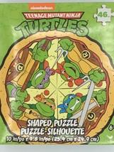 Teenage Mutant Ninja Turtles, Nickelodeon 46 pc Puzzle, Pizza Shaped - $11.29