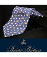 Brooks Brothers Makers Neck Tie Garden Planting Green Thumb 100% Silk Tie - $46.48