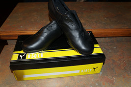 New Bloch Black Leather Tap Flex Shoes Girls Youth 4 - $18.02