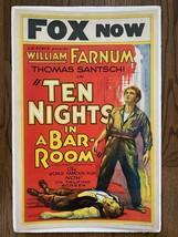 *TEN NIGHT IN A BAR-ROOM (1931) William Farnum & Tom Santschi Window Card  - $150.00