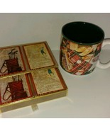 Collectible Coffee Mug  8 oz & Swap Playing Cards Vintage Golf Golfer Game - $22.76