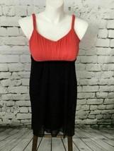 En Focus Women's Plus Sz 14W Dress Red Black V-Neck Spaghetti Strap Sheath - $12.86
