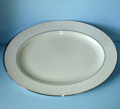 "Lenox COURTYARD PLATINUM Large Oval Serving Platter 16"" Retail $237 New - $72.90"
