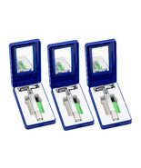 (3) MD Stainless Steel Butterfly Style Safety Razor Blades & Travel Case... - $18.69