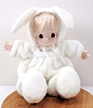 "Precious Moment Samuel Butcher White Bunny DOLL 18"" 1997 - $37.33"