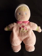Carters Just One Year pink my first doll blonde 3 flowers rattle soft pl... - $11.71