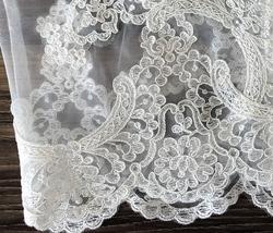 White Sleeveless Illusion Neckline Crop Lace Tops  Boho Wedding Bridesmaid Tops  image 4