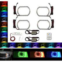 2009-2013 GMC Sierra Truck Multi-Color Changing LED RGB Headlight Halo Ring Set - $199.95