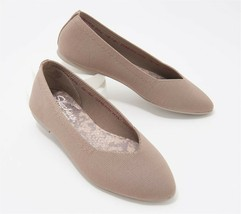 Skechers Solid Washable Knit Slip-Ons Cleo Claw-Some Taupe 8M NEW A376041 - $49.48