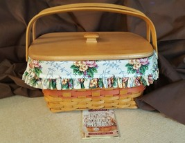 Longaberger 1997 Mother's Day Timeless Memory Basket #13030 Liner Protec... - $59.95