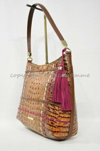 NWT Brahmin Farrah Leather Tote / Shoulder Bag in Toasted Almond Hayes - $289.00