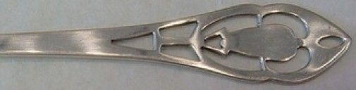 Pierced Handle by Manchester Sterling Silver Cheese Server 5 1/2""