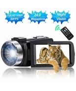 Full HD 1080P Digital Video Camera Camcorder DVR NightVision Remote Control - $64.30
