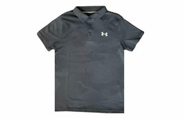 Under Armour Boys HeatGear Camo Print Polo Shirt Wire Gray L 1330511-073 - $34.99