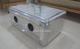 NauticalMart Vintage Blackhawk Coffee Table Aviator Furniture  - $1,190.00