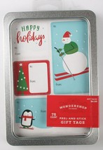 Lot of 3 Pack 75 Count Peel & Stick Holiday Christmas Gift Tags To From Stickers image 2