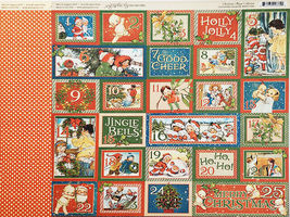 Graphic 45 Christmas Magic 12x12 Cardstock Sheets and Sticker Sheet image 4