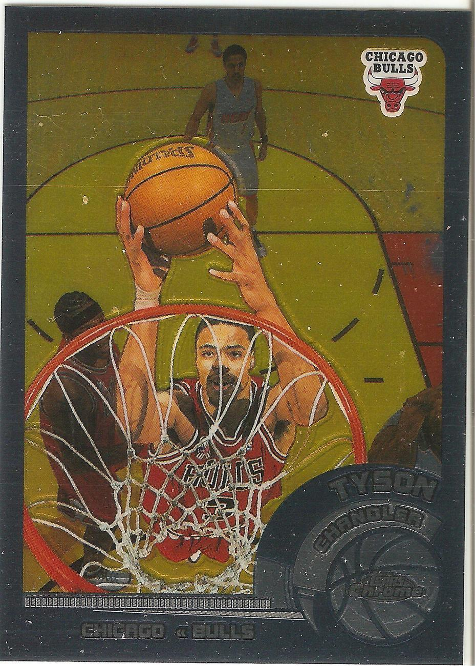 Tyson Chandler Topps Chrome 02-03 #53 Chicago Bulls New York Knicks Dallas Mavs