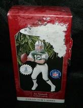 1997 Hallmark Keepsake Joe Namath NFL Score Board Trading Card Xmas Orna... - $17.82