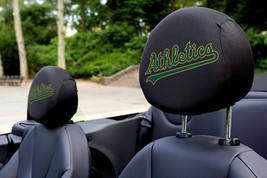 Oakland Athletics MLB Auto Car Head Rest Covers Oakland A's *JERSEY VERS... - $15.67