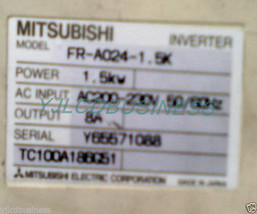 Mitsubishi FR-A024-1.5K 1.5KW inverter 90 days warranty - $452.20