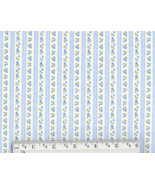 Blue Pillow Ticking Flannel, cotton quilting fa... - $6.90