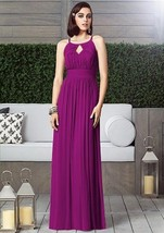 Dessy  2906......Full length, Halter, Chiffon dress....Persian Plum....Sz 8 - €86,30 EUR