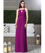 Dessy  2906......Full length, Halter, Chiffon dress....Persian Plum....Sz 8 - $98.99